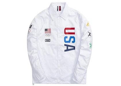 Kith for Team USA 5 Rings Coaches Jacket Whiteの写真