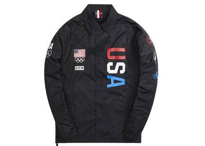 Kith for Team USA 5 Rings Coaches Jacket Blackの写真