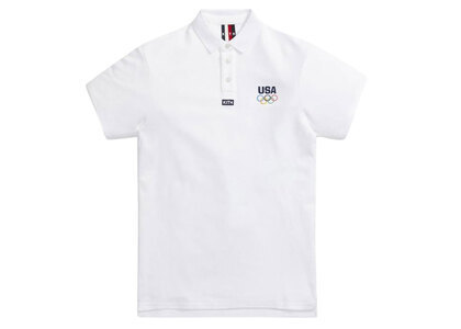 Kith for Team USA Pique Polo Whiteの写真