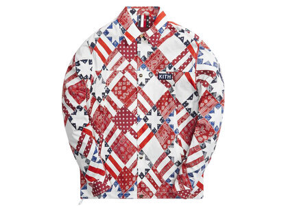 Kith for Team USA Starry Quilt Coaches Jacket Pyreの写真