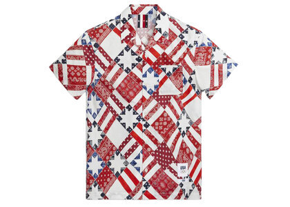 Kith for Team USA Starry Quilt Camp Collar Shirt Pyreの写真