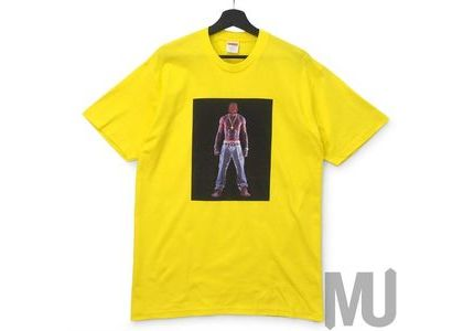 Supreme Tupac Hologram Tee Yellowの写真