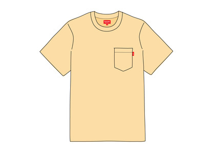 Supreme S-S Pocket Tee Pale Yellowの写真