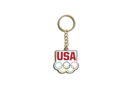 Kith for Team USA 5 Rings Keychain Whiteの写真