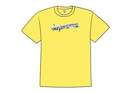 Supreme Chrome Logo Tee Yellowの写真