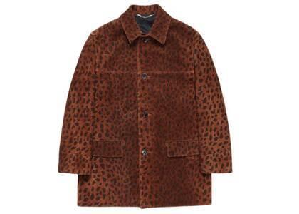 WACKO MARIA Leopard Suede Leather Coat Beige (SS21)の写真