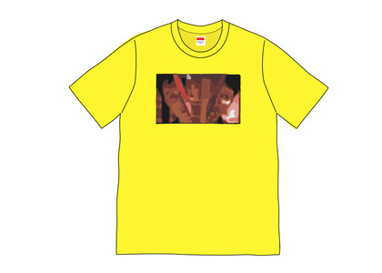 Supreme Split Tee Yellowの写真