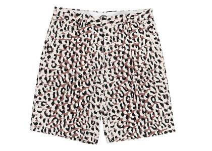 WACKO MARIA Dickies Leopard Pleated Short Trousers White (SS21)の写真