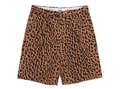WACKO MARIA Dickies Leopard Pleated Short Trousers Brown (SS21)の写真