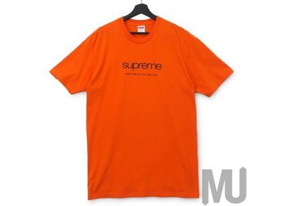 Supreme Shop Tee Orangeの写真