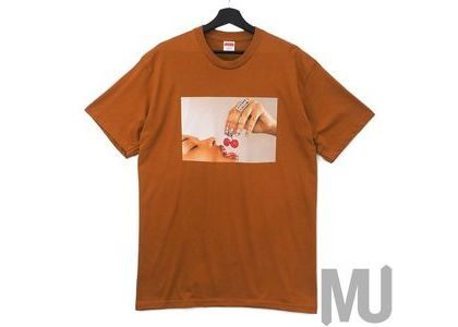 Supreme Cherries Tee Burnt Orangeの写真