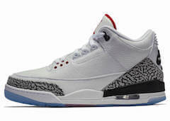 JORDAN 3 ALL-STAR WHITE/CEMENT CLEAR SOLE