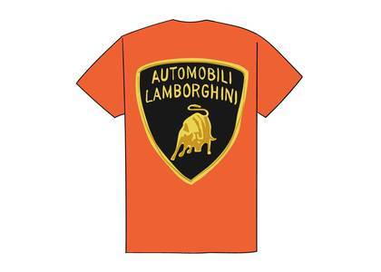 Supreme Automobili Lamborghini Tee Orangeの写真
