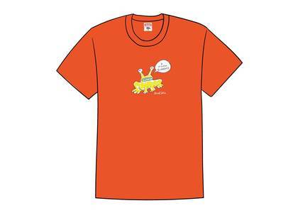 Supreme Daniel Johnston Frog Tee Orangeの写真