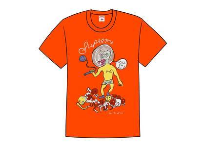 Supreme Daniel Johnston Kill Em All Tee Orangeの写真