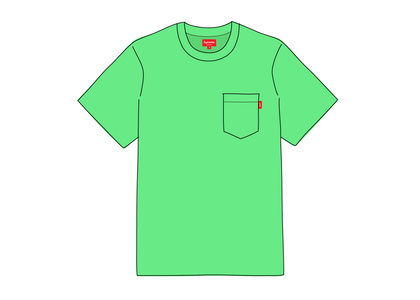 Supreme S-S Pocket Tee Seafoam Greenの写真