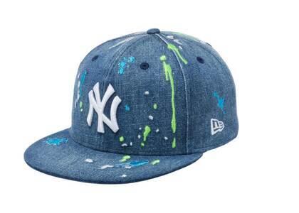 New Era 59FIFTY New York Yankees Splash Embroidery Washed Denim/Snow Whiteの写真