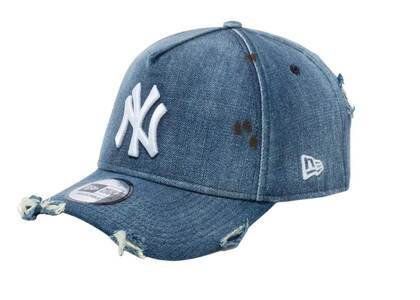 New Era 9FORTY A-Frame New York Yankees Damaged Denim Washed Denimの写真