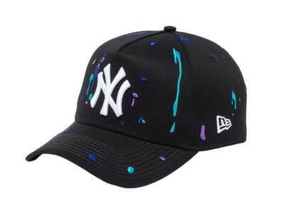 New Era 9FORTY A-Frame New York Yankees Splash Embroidery Blackの写真