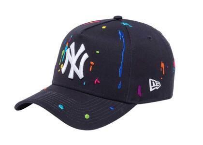 New Era 9FORTY A-Frame New York Yankees Splash Embroidery Navyの写真