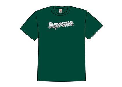 Supreme Chrome Logo Tee Dark Greenの写真