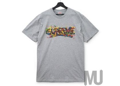 Supreme Paint Logo Tee Heather Greyの写真