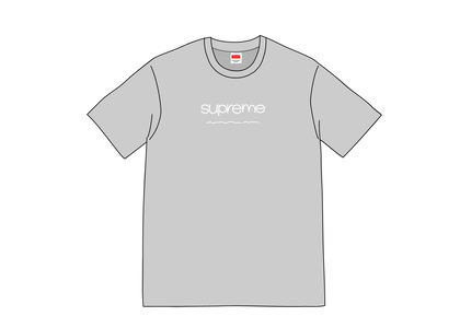 Supreme Shop Tee Heather Greyの写真