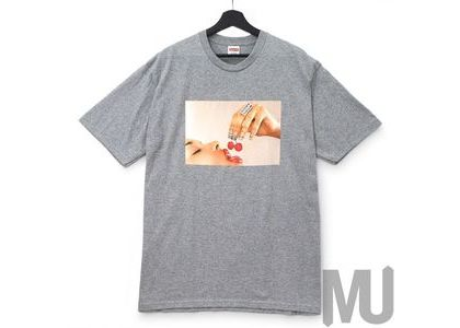 Supreme Cherries Tee Heather Greyの写真