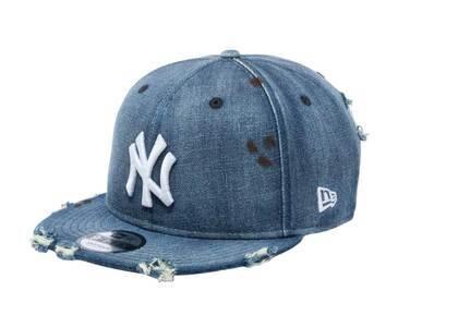 New Era 9FIFTY New York Yankees Damaged Denim Washed Denimの写真
