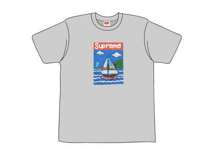 Supreme Sailboat Tee Heather Greyの写真