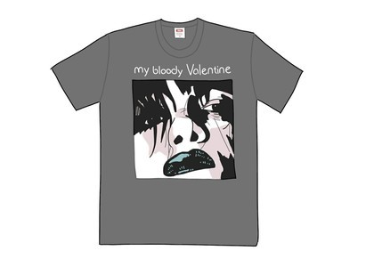Supreme My Bloody Valentine Feed Me With Your Kiss Tee Warm Greyの写真