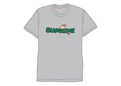 Supreme Lizard Tee Heather Greyの写真