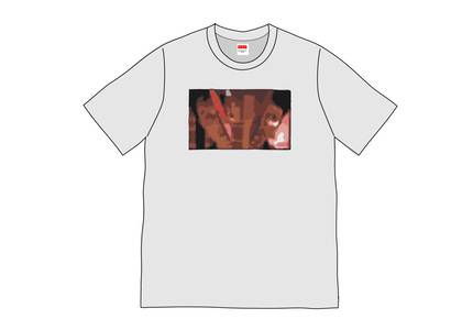 Supreme Split Tee Heather Greyの写真