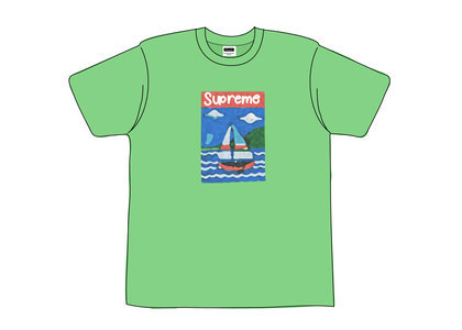 Supreme Sailboat Tee Dusty Tealの写真