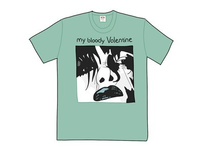 Supreme My Bloody Valentine Feed Me With Your Kiss Tee Dusty Tealの写真