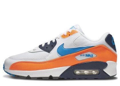 Nike Air Max 90 White Photo Blue Total Orangeの写真