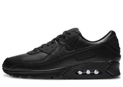 Nike Air Max 90 Leather Triple Black 2020の写真