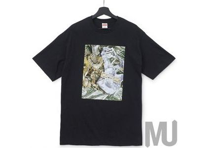Supreme Bling Tee Navyの写真