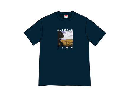 Supreme Supreme Time Tee Navyの写真