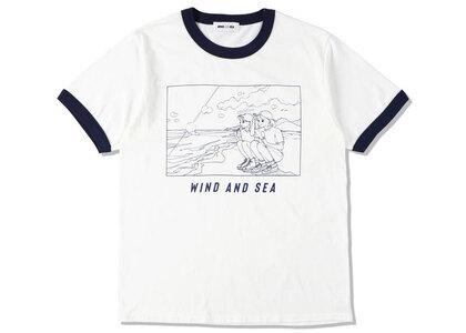 Yoshifuku Honoka × WIND AND SEA Ringer Tee White/Navyの写真