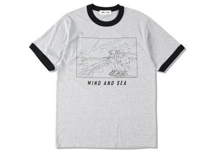 Yoshifuku Honoka × WIND AND SEA Ringer Tee Gray/Blackの写真