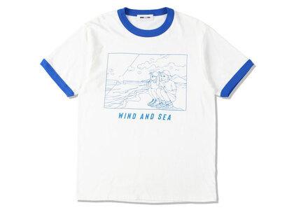Yoshifuku Honoka × WIND AND SEA Ringer Tee White/Blueの写真