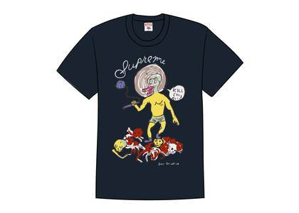 Supreme Daniel Johnston Kill Em All Tee Navyの写真