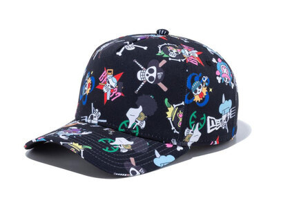 New Era 9FORTY A-Frame ONE PIECE ONE PIECE All Over Print Blackの写真