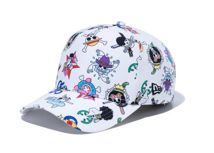 New Era 9FORTY A-Frame ONE PIECE ONE PIECE All Over Print Whiteの写真