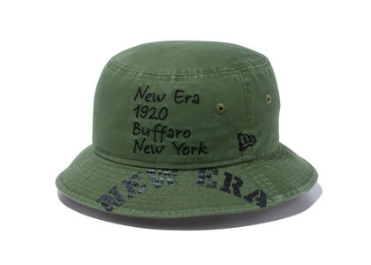 New Era Bucket01 Military Military Embroidery Print New Oliveの写真
