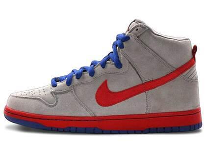 Nike SB Dunk High Medium Grey Varsity Red Old Royalの写真