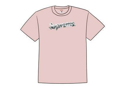 Supreme Chrome Logo Tee Heather Pinkの写真