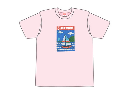 Supreme Sailboat Tee Light Pinkの写真