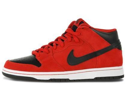 Nike SB Dunk Mid Sport Red Blackの写真
